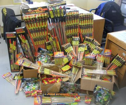 The fireworks which were seized by gardai