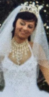Brigid 'Bernie' Cash pictured on her wedding day