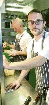 Padraic Hayden, owner/chef at the Camden Kitchen, had to turn customers away when the water went off