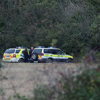 Gardai search woodland at the Mayne in Clonee, west Dublin