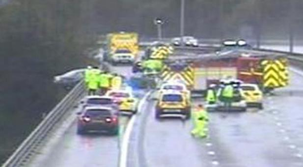 Handout photo issued by the Highways Agency, as two people were