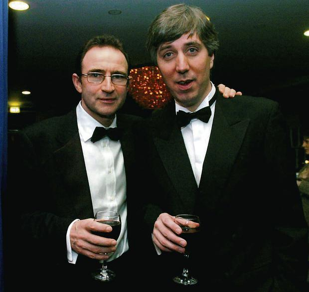 Martin O'Neill at the FAI awards in 2005