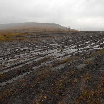 Irish Wildlife Trust of the aftermath of turf extraction in Glenveagh National Park