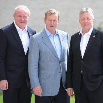 Martin McGuinness, Enda Kenny and Peter Robinson
