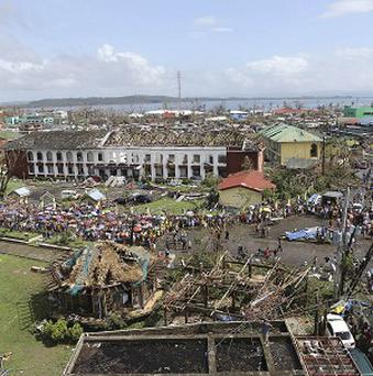 The devastation caused by Typhoon Haiyan in Tacloban city, Leyte province in central Philippines (AP)