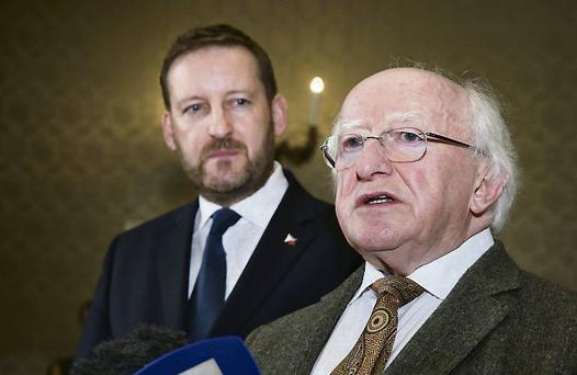 Philippines Consul Mark Christopher Congdon with President Michael D Higgins