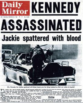 'Daily Mirror' reported JFK's death