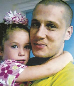 Nadine (5) with her dad Anthony, who both died in a fire in May 2012