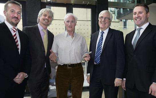 Guest speakers Fintan Gavigan, deputy marketing director INM and chairman GPP; Gavin Harte, ESD Training and Duncan Stewart, environmentalist at the inaugural Green Press Partnership Environment forum.
