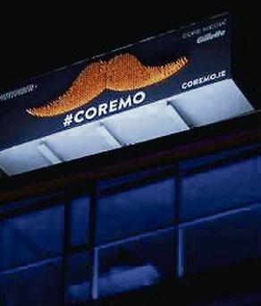 The moustache on Core Media's office