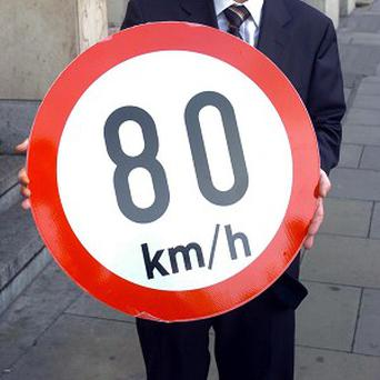 Country roads are to have 80km/h speed limits replaced