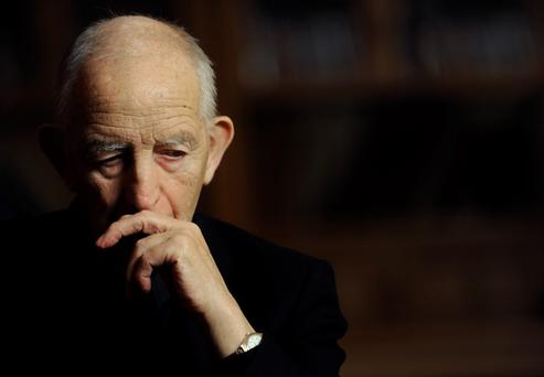 File image of Fr Alec Reid, who died today, taken on 27/04/2010 when he took part in a series of interviews documenting his role in the Peace Process. Byline: Laura Hutton.