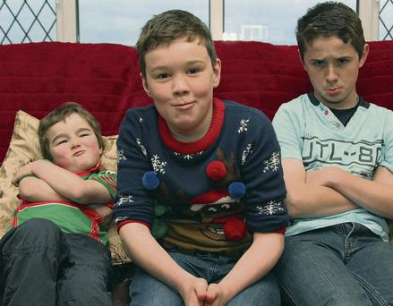 Fergal Smith (centre) with his brothers Ciaran (14) and Pearse Og (4).
