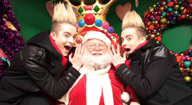 Warning: Jedward visiting Santa's Grotto. Temporary Christmas businesses could be asked to get a TV licence