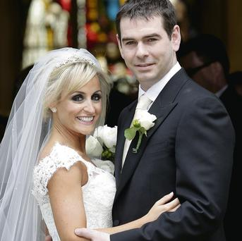Bride Karen Woods and groom Sean Quinn Jr pictured on their wedding day