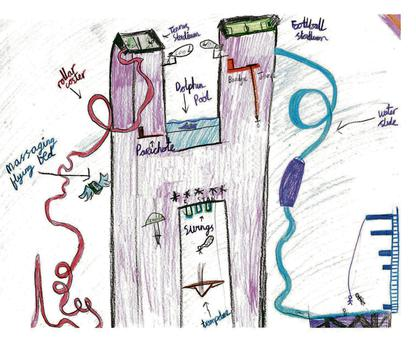 The report included a child's drawing of what the ideal children's hospital would look like