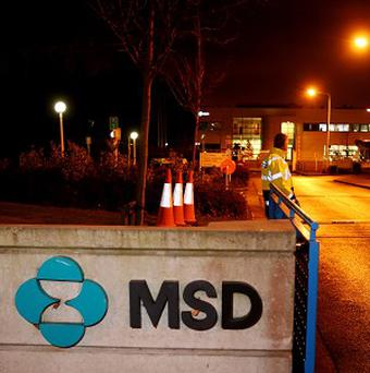 MSD in Swords, Co. Dublin were around 570 jobs are being axed at the pharmaceutical giant.