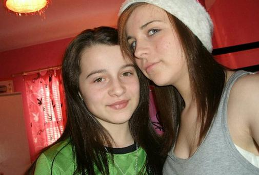 Shannon Gallagher (right) and her late sister Erin, who both took their own lives
