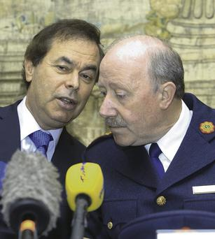 Justice Minister Alan Shatter and Garda chief Martin Callinan yesterday