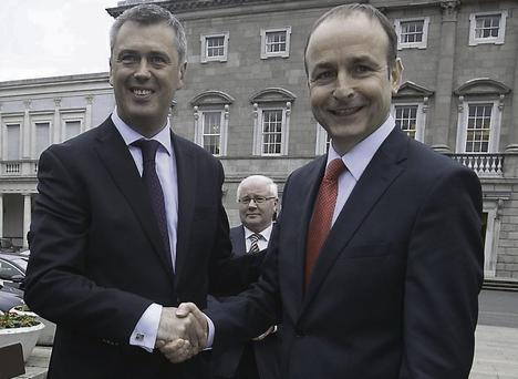 Colm Keaveney and Micheal Martin
