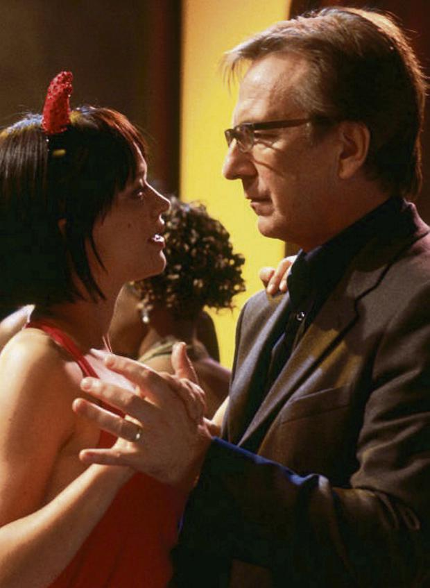 Frisky Business: Alan Rickman's character Harry in hit movie 'Love Actually' had an affair with Mia, played by Heike Makatsch