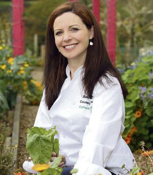 Catherine Fulvio in the garden of Ballyknocken House. Photo: Tony Gavin