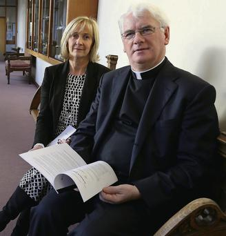 Bishop Noel Treanor with Barbara McDermot, Director for Safeguarding, Diocese of Down and Connor