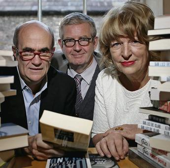 Colm Toibin with UCD's James Ryan and Pat Moylan of the Arts Council. Julien Behal/MAXWELLS