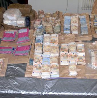 A stash of money worth more than one million euro which was seized in Co Limerick