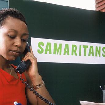 The number of people calling Samaritans has fallen slightly since the height of the financial collapse (Samaritans)