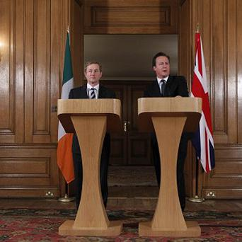 Enda Kenny, left, and David Cameron are to visit First World War graves