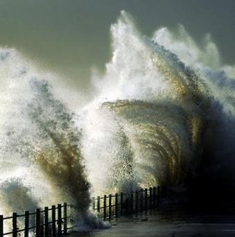Thousands are without power after storm-force winds battered Ireland