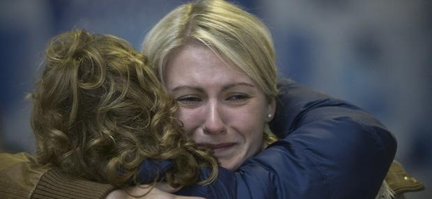 Terri Hackney from Laois pictured at Dublin Airport with her daughter Terri who came home from Perth for Christmas
