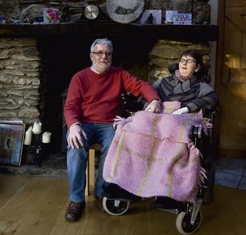 LASTING LEGACY: Tom Curran with Marie Fleming, who had multiple sclerosis, in January this year. Her 'right-to-die' campaign kick-started a national debate. Photo: Garry O'Neill