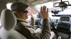 Steve Mahan, who is registered blind, uses the Google driverless cars for trips in Silicon Valley after legislation was passed in California, Nevada and Florida Justin Sullivan/Getty