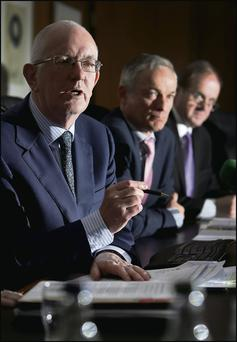 From left: Barry O'Leary, CEO IDA Ireland; Minister for Jobs, Enterprise and Innovation Richard Bruton; and Frank Ryan, chairman IDA Ireland.