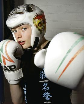 Kickboxing champion and asthmatic Niall Carroll