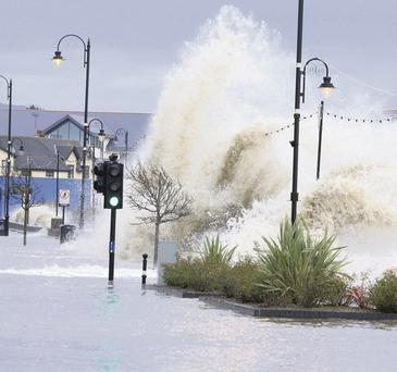 Flooding in Blackrock, Co Louth. Photo: Paul Smtih
