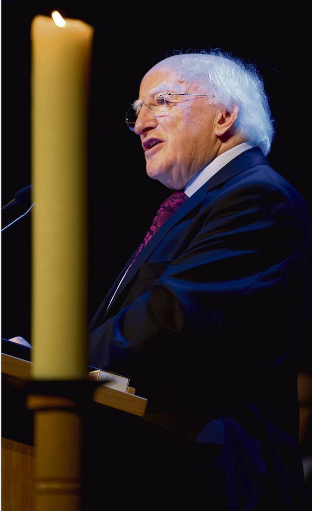 NO MENTION OF RELIGION: President Michael D Higgins 'has nothing to add' to his festive speech, which differed in tradition from most of the Western world