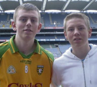 Anthony Blair (right) with his brother Joe, who were ordered by a cab driver in Glasgow to stop speaking Irish, pictured at Croke Park. NewspixIr
