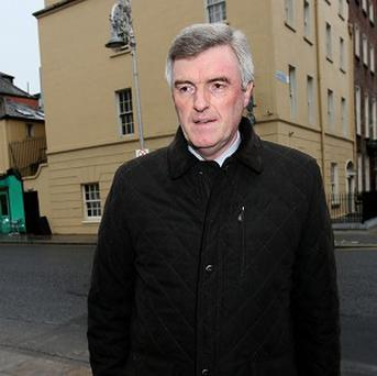 Chief Executive of Irish Water John Tierney arrives at Leinster House