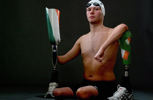 CONCERN: Swimming champion Darragh McDonald, from Gorey, Co Wexford won a gold medal for Ireland at the London 2012 Paralympics. He began therapy at CRC when he was just six months old. Photo: Brian Lawless