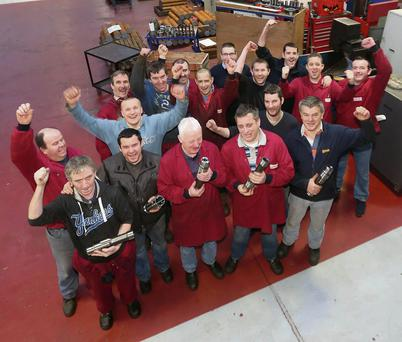 Members of the production team at Mincon in Shannon, County Clare