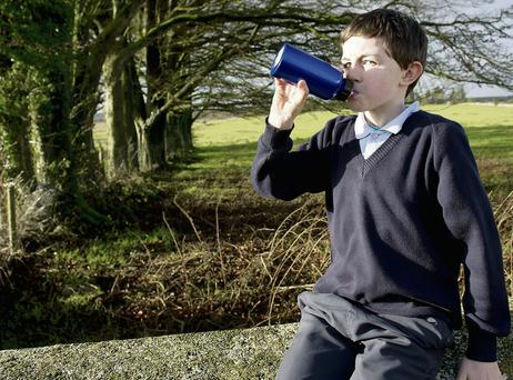 Calum Kennedy of Kilrickle National School has to rely on wells or rainwater tanks to quench his thirst