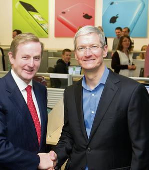 Tim Cook, Apple CEO, and Enda Kenny