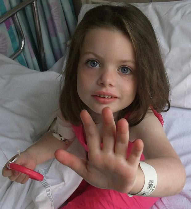 SAD LOSS: Tony and Mary Heffernan's daughter Saoirse died aged five.
