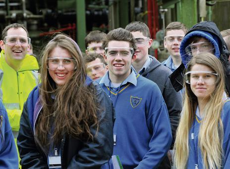 Students from Kinsale Community School visit Eli Lilly as part of Irish Engineers Week.