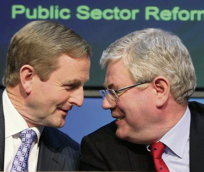 Taoiseach Enda Kenny and Tanaiste Eamon Gilmore