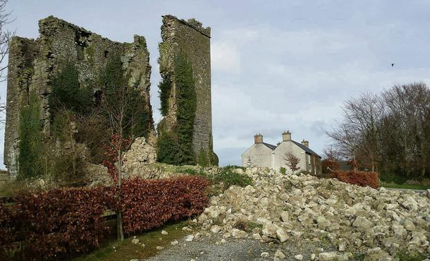 Coolbanagher Castle on the outskirts of Portlaoise before the storm damage.