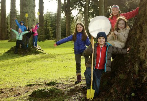 Pictured at the launch of the National Tree Week 2014, sponsored by SSE Airtricity at Powerscourt Estate, County Wicklow were: Bobbi Gillespie (9), Sebastian Weijer (4), Sarah Weijer (8) and Sophie C